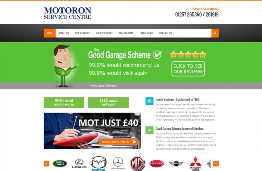 Motoron - NRD Media website design Chorley
