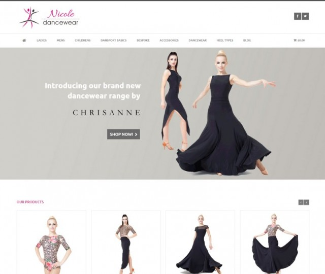 Nicole Dancewear - NRD Media website design Chorley