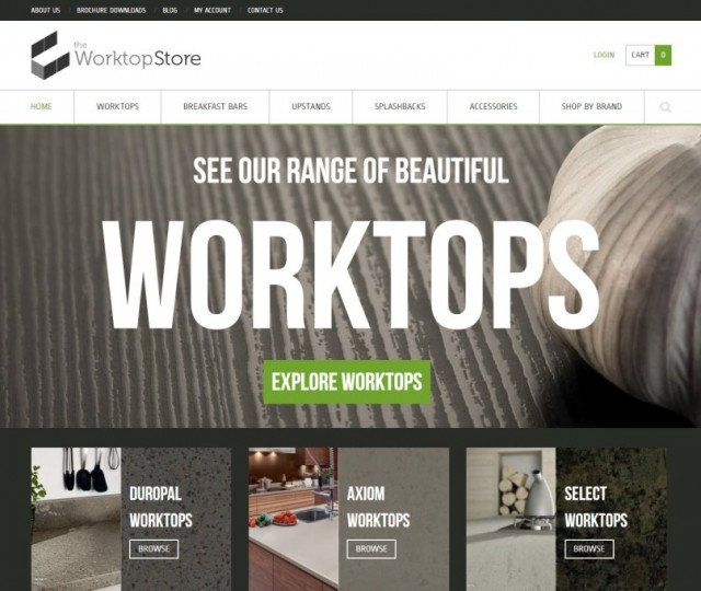 The Worktop Store - NRD Media website design Chorley