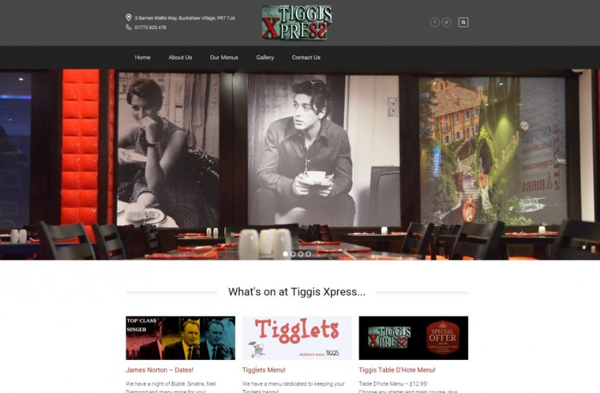 Tiggis Xpress - NRD Media website design Chorley