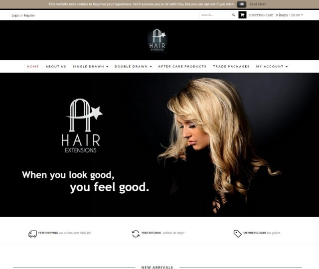 A Star Hair Extensions - NRD Media website design Chorley