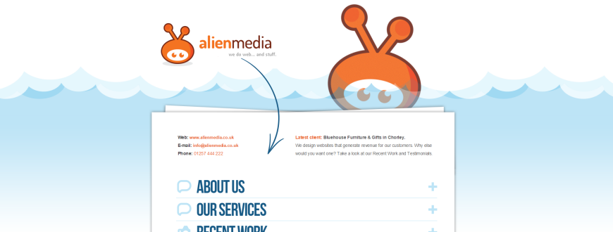 NRD Media website design Chorley