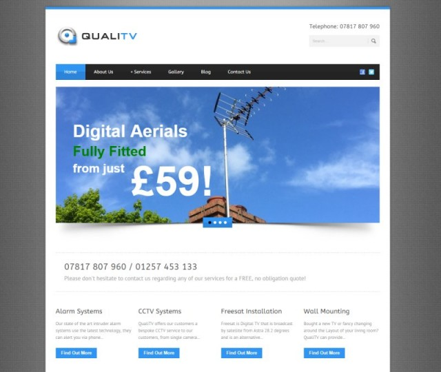 QualiTV - NRD Media website design Chorley