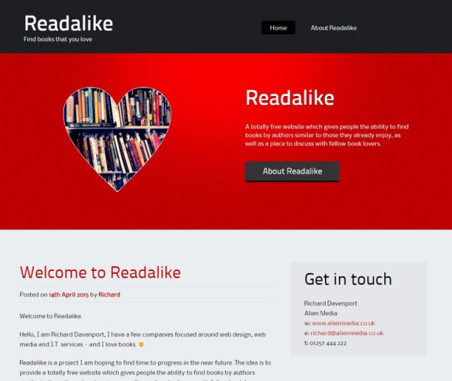 Readalike - NRD Media website design Chorley