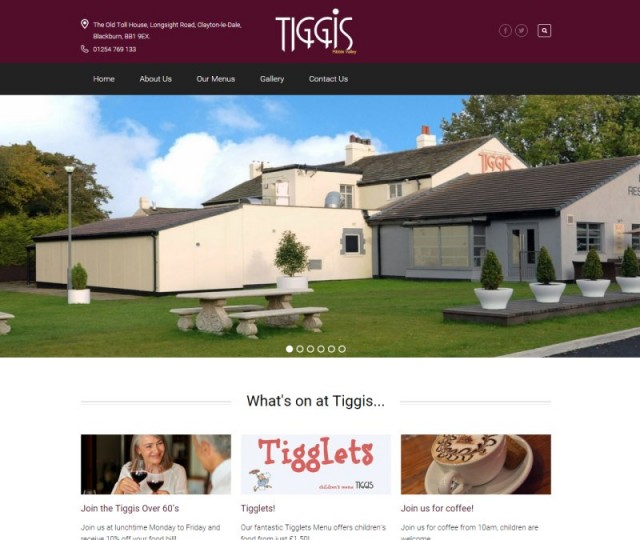 Tiggis Ribble Valley - NRD Media website design Chorley