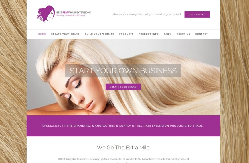 Best Remy Hair Extensions - NRD Media website design Chorley
