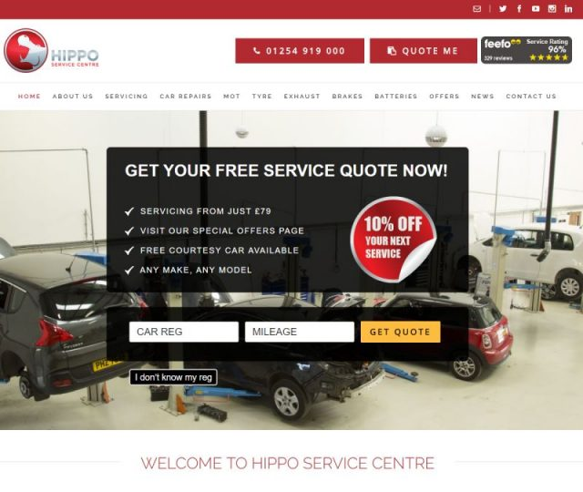 Hippo Motor Group - NRD Media website design Chorley